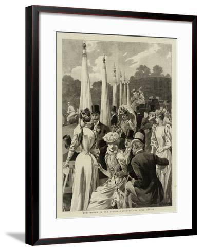 Hurlingham in the Season, Watching the Pony Racing--Framed Art Print