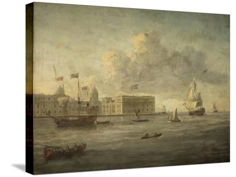 Greenwich Hospital, Off Which Lies the Royal Yacht--Stretched Canvas Print