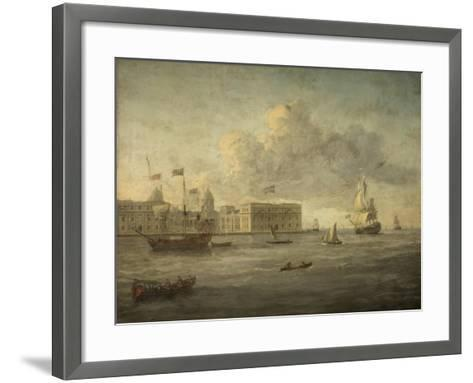 Greenwich Hospital, Off Which Lies the Royal Yacht--Framed Art Print