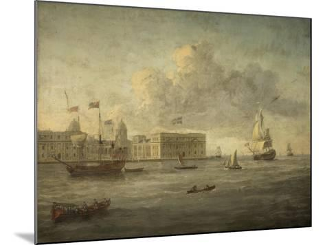 Greenwich Hospital, Off Which Lies the Royal Yacht--Mounted Giclee Print