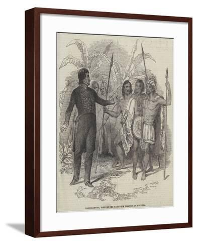 Kamehameha, King of the Sandwich Islands, in Council--Framed Art Print