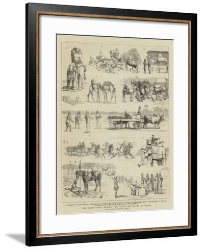 The Sham Fight before the Prince of Wales at Delhi--Framed Art Print