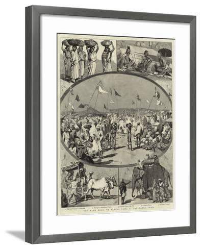 The Magh Mela, or Annual Fair, at Allahabad, India--Framed Art Print