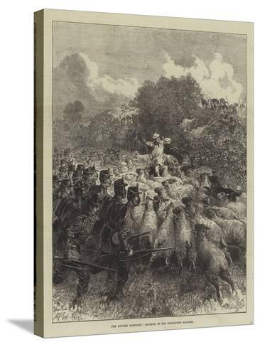 The Autumn Campaign, Advance of the Connaught Rangers--Stretched Canvas Print