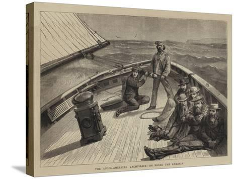 The Anglo-American Yacht-Race, on Board the Cambria--Stretched Canvas Print