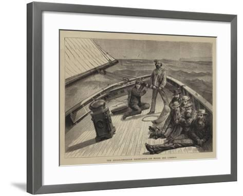 The Anglo-American Yacht-Race, on Board the Cambria--Framed Art Print
