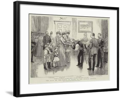 The Visit of the Prince of Wales to the German Emperor--Framed Art Print