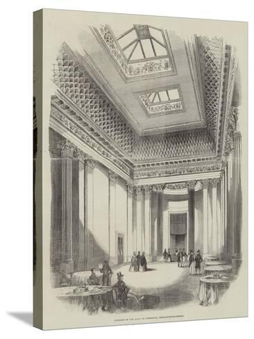 Interior of the Hall of Commerce, Threadneedle-Street--Stretched Canvas Print