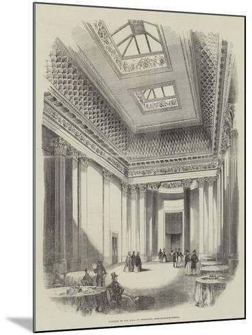 Interior of the Hall of Commerce, Threadneedle-Street--Mounted Giclee Print