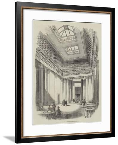 Interior of the Hall of Commerce, Threadneedle-Street--Framed Art Print