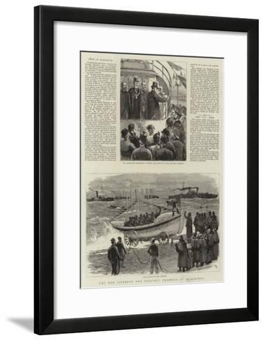The New Lifeboat and Electric Tramway at Blackpool--Framed Art Print