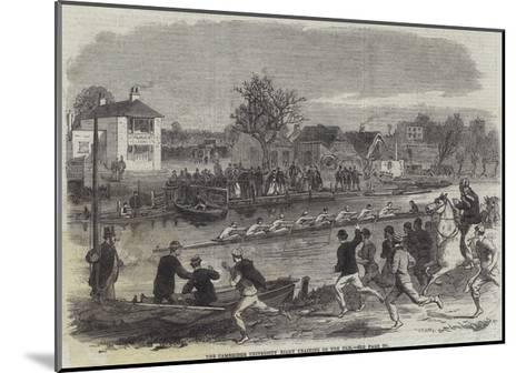 The Cambridge University Eight Training on the Cam--Mounted Giclee Print