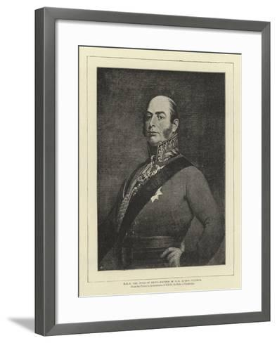 H R H the Duke of Kent, Father of H M Queen Victoria--Framed Art Print