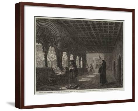 Monks Illuminating in a Convent at Valladolid, Spain--Framed Art Print