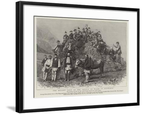 The Recent Visit of the Prince of Wales to Roumania--Framed Art Print