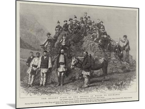 The Recent Visit of the Prince of Wales to Roumania--Mounted Giclee Print