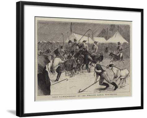 Polo Extraordinary at the Whalley Range, Manchester--Framed Art Print
