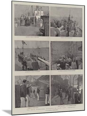 The Naval Manoeuvres, Snapshots on Board HMS Hermione--Mounted Giclee Print