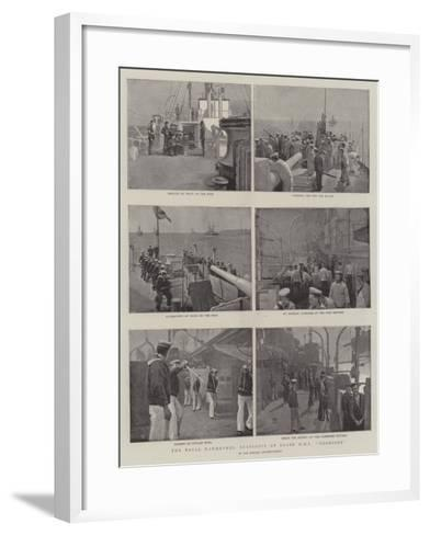 The Naval Manoeuvres, Snapshots on Board HMS Hermione--Framed Art Print