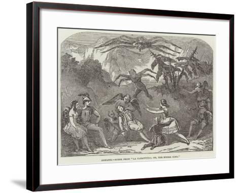 Adelphi, Scene from La Tarantula; Or, the Spider King--Framed Art Print