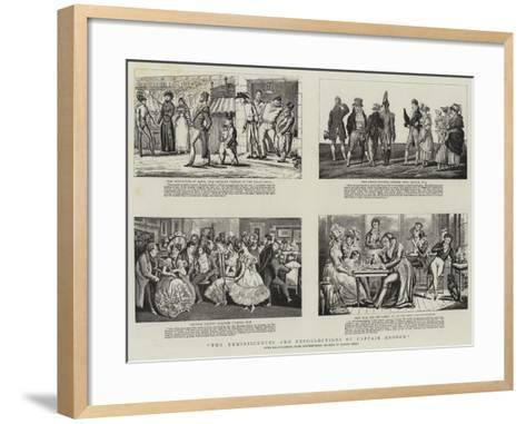 The Reminiscences and Recollections of Captain Gronow--Framed Art Print