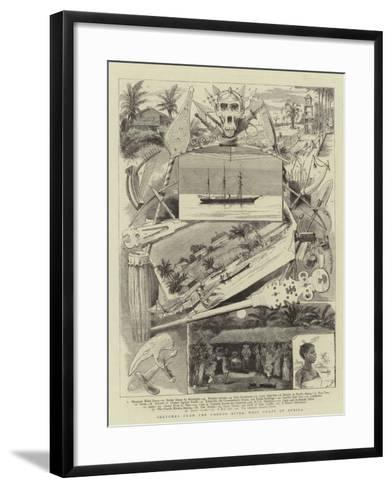 Sketches from the Gaboon River, West Coast of Africa--Framed Art Print
