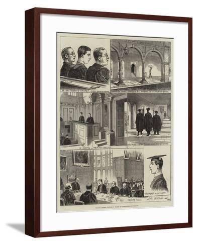 Prince Albert Victor of Wales at Cambridge University--Framed Art Print