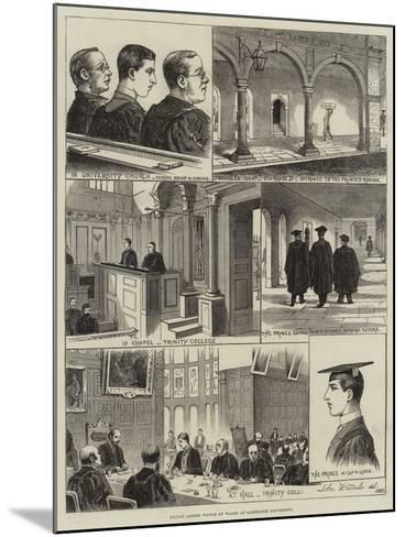 Prince Albert Victor of Wales at Cambridge University--Mounted Giclee Print