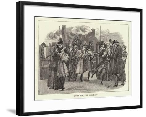 Studies of Life and Character at a Railway Station--Framed Art Print