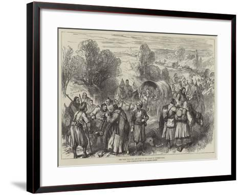 The War, Wounded and Sick on the Road to Tchernavoda--Framed Art Print
