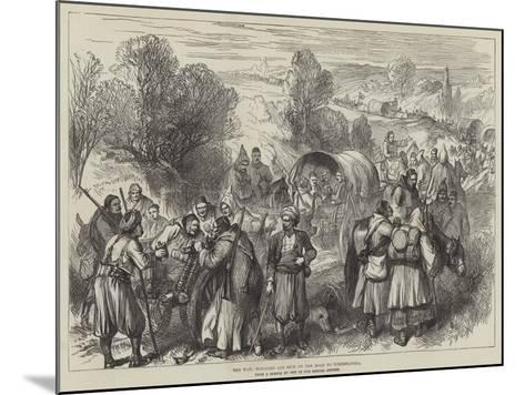 The War, Wounded and Sick on the Road to Tchernavoda--Mounted Giclee Print