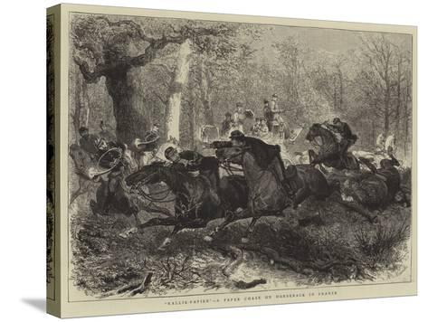 Rallie-Papier, a Paper Chase on Horseback in France--Stretched Canvas Print