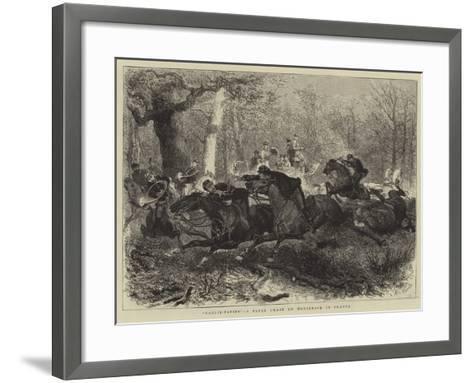 Rallie-Papier, a Paper Chase on Horseback in France--Framed Art Print