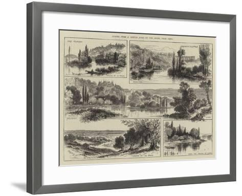 Leaves from a Sketch Book, on the Seine, Near Paris--Framed Art Print