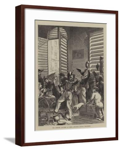 The Marche Couvert at Metz, Soldiers Buying Provisions--Framed Art Print