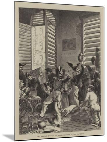 The Marche Couvert at Metz, Soldiers Buying Provisions--Mounted Giclee Print