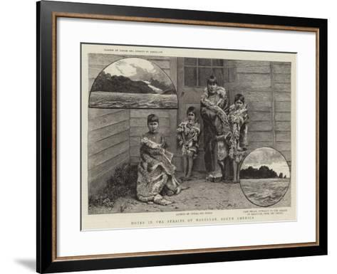 Notes in the Straits of Magellan, South America--Framed Art Print