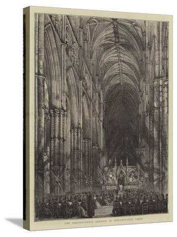 The Passion-Music Service at Westminster Abbey--Stretched Canvas Print