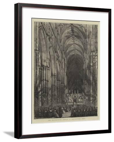 The Passion-Music Service at Westminster Abbey--Framed Art Print