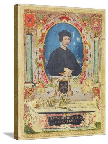 Memorial Portrait of John Colet (1467 – 1519)--Stretched Canvas Print