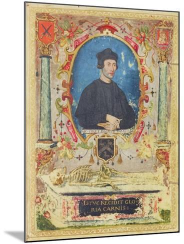 Memorial Portrait of John Colet (1467 – 1519)--Mounted Giclee Print