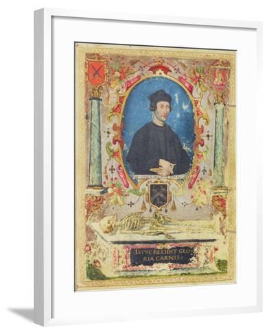 Memorial Portrait of John Colet (1467 – 1519)--Framed Art Print
