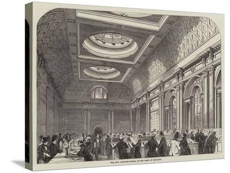The New Drawing-Office, at the Bank of England--Stretched Canvas Print
