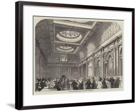 The New Drawing-Office, at the Bank of England--Framed Art Print