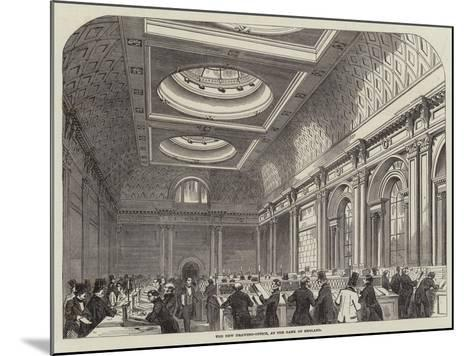 The New Drawing-Office, at the Bank of England--Mounted Giclee Print