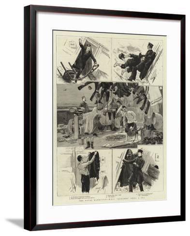 The Naval Manoeuvres, H M S Lurcher Ships a Sea--Framed Art Print