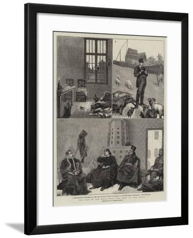 The War in the East, with the Army of the Drina--Framed Art Print