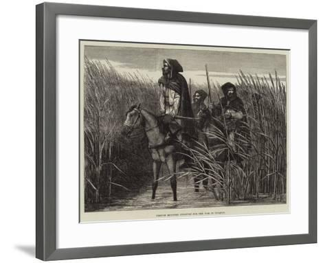 French Mounted Infantry for the War in Tonquin--Framed Art Print