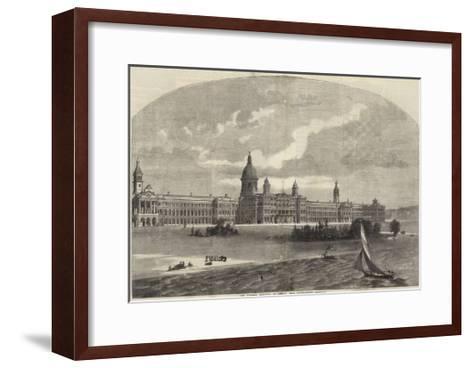 The Victoria Hospital at Netley Near Southampton--Framed Art Print