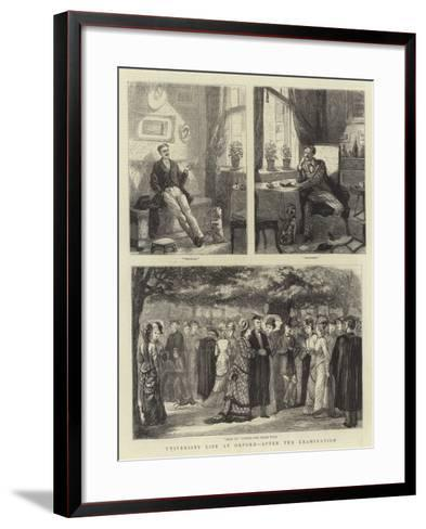 University Life at Oxford, after the Examination--Framed Art Print